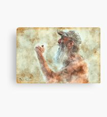 Old Man in Cap Canvas Print
