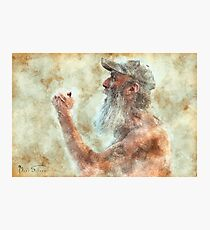 Old Man in Cap Photographic Print