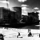 Hamburg -experimental -Hafencity -b&w by OLIVER W