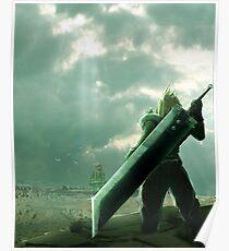 To Midgar - Final Fantasy VII Concept Art Poster