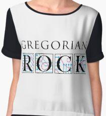 Gregorian Rock logo - black Chiffon Top