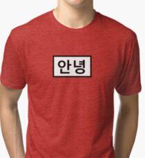 Hello - 안녕  Tri-blend T-Shirt
