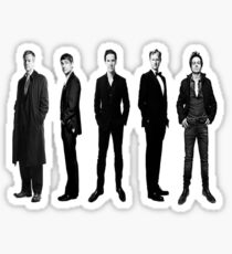 Sherlock cast in black and white Sticker