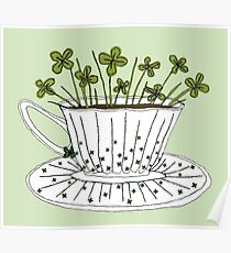 Lucky Cup of Clovers Poster
