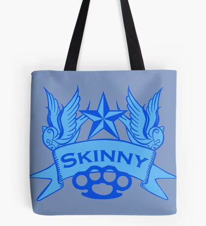 Wisconsin Skinny Blue Swallows Tote Bag