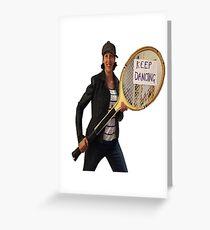 Miranda Hart - 'Keep dancing' Greeting Card