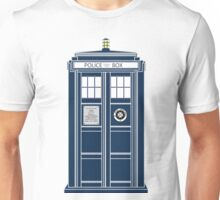 Blue Tardis, Doctor Who Police box Unisex T-Shirt