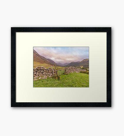 Ben Nevis mountain range Framed Print