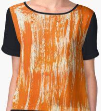 Orange Paint Brush Chiffon Top