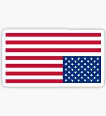 Upside Down Flag Sticker