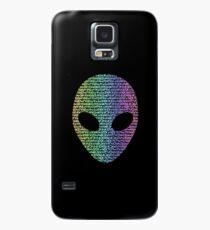 Coloured Alien Typograph Case/Skin for Samsung Galaxy