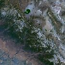 Yosemite National Park and Sierra Nevada Mountains California Satellite Image by Jim Plaxco