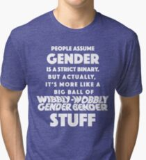 Wibbly Wobbly Gender Bender Tri-blend T-Shirt