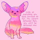 """You Won't Be Defeated Now"" Fennec Fox by thelatestkate"