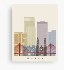 Omaha skyline poster Canvas Print