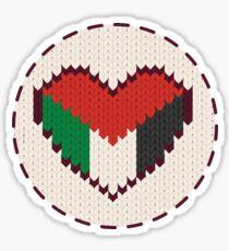 Palestine knitted heart  Sticker