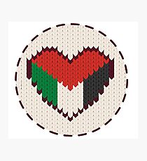 Palestine knitted heart  Photographic Print