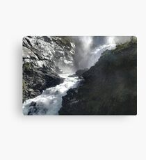 NORWAY WATERFALL Canvas Print