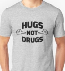 Camiseta unisex ¡Abrazos! No drogas