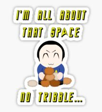 No Tribble... Sticker