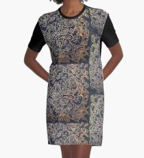Gold Mandala Graphic T-Shirt Dress