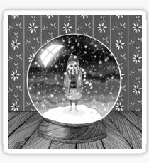 The Girl in the Snow Globe  Sticker