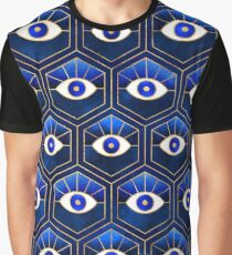 Eyes - Blue Graphic T-Shirt