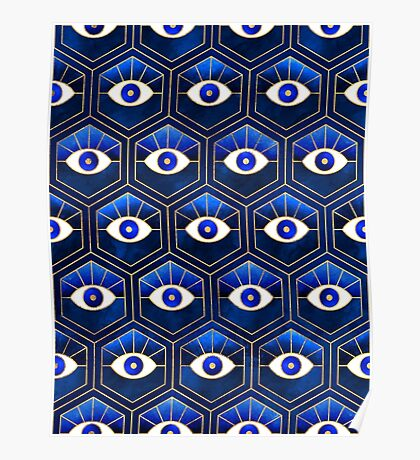 Eyes - Blue Poster