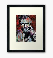 Conor McGregor, UFC Pop Art Portrait Framed Print