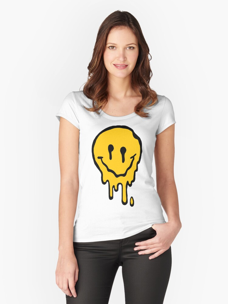 ACID SMILE Women's Fitted Scoop T-Shirt Front