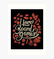 I Love Board Games Art Print