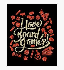 Lámina fotográfica I Love Board Games