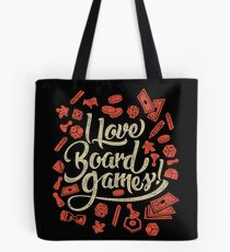 I Love Board Games Tote Bag