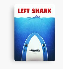 Left Shark Parody - Jaws - Funny Movie / Meme Humor Canvas Print