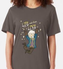 LIFE needs things to LIVE Slim Fit T-Shirt