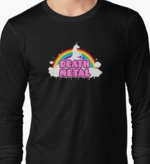 DEATH METAL! (Funny Unicorn / Rainbow Mosh Parody Design) T-Shirt