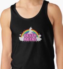 Camisetas de tirantes para hombre DEATH METAL! (Divertido unicornio / Rainbow Mosh Parodia Diseño)