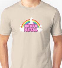 DEATH METAL! (Funny Unicorn / Rainbow Mosh Parody Design) T-Shirt