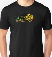 Heraldic Grunge Reggae Lion Heraldry Style Unisex T-Shirt