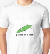 Planes on a Snek - A Tiny Snek Comic Unisex T-Shirt