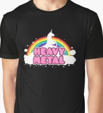 HEAVY METAL! (Funny Unicorn / Rainbow Mosh Parody Design) Graphic T-Shirt