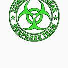 ZOMBIE RESPONSE TEAM round green  by thatstickerguy