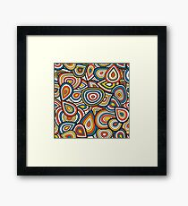 Abstract shapes pattern design Framed Print