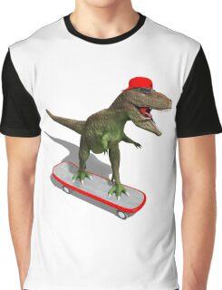 Skateboarding T-Rex Graphic T-Shirt