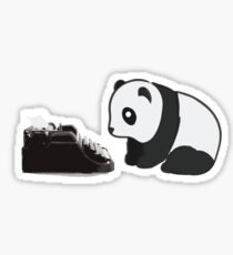 Typewriter Panda Sticker