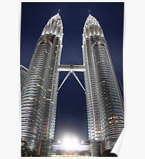 Twin Towers, KL, Malaysia Poster