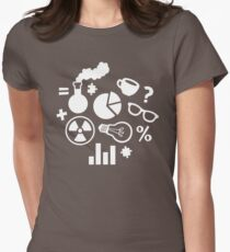 Crazy Science Pattern Womens Fitted T-Shirt