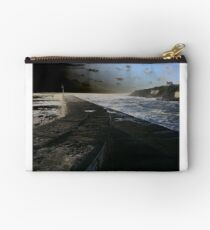 Harbour wall at Porthleven Studio Pouch
