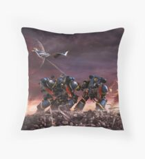 Space Marines Throw Pillow