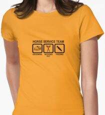 Horse Service Team Womens Fitted T-Shirt